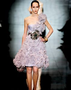 Couture Report Armani Prive Spring 2008 One Shoulder Dress