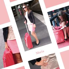 Street Style #DELSEY - Maria and her FOR ONCE suitcase #outfit #streetstyle #fashion