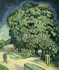 Vincent van Gogh, Chestnut Trees in Blossom,1890, Auvers-sur-oise, France, oil on canvas, Private Collection