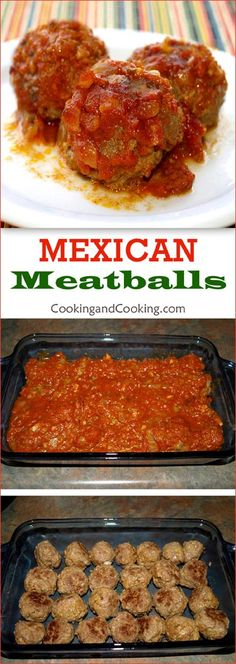 Mexican Meatballs Recipe Cuban Recipes, Chef Recipes, Great Recipes, Cooking Recipes, Favorite Recipes, What's Cooking, Sweets Recipes, Easy Recipes, Recipies