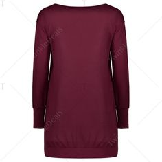 Stylish Plunging Neck Long Sleeve Solid Color Pocket Design Women's... ($15) ❤ liked on Polyvore featuring dresses, long sleeve plunge neck dress, long sleeve plunging neckline dress, plunge-neck dresses, longsleeve dress and long sleeve dresses