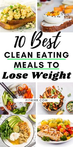 10 best healthy meals to lose weight and improve your health. Just because you need to lose weight, it doesn't mean you need to eat tasteless, boring foods. You can eat very fulfilling meals that are satisfying and delicious. These 10 clean-eating healthy Weight Loss Meals, Clean Eating Recipes For Weight Loss, Healthy Recipes For Weight Loss, Good Healthy Recipes, Eating Healthy, Quick Easy Healthy Meals, Best Weight Loss Foods, Foods To Loose Weight, Healthy Diet Meals