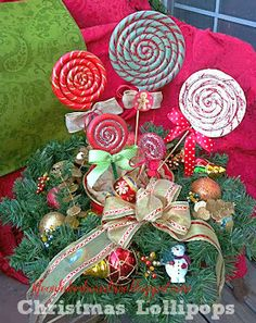 diy christmas candy lollipops guest post - Candyland Christmas Decorations