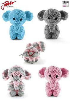 Amigurumi Elefant - Crochet and Knit - Leads For Amigurumi Crochet For Kids, Diy Crochet, Crochet Crafts, Crochet Baby, Crochet Projects, Crochet Motifs, Easy Crochet Patterns, Baby Knitting Patterns, Crochet Amigurumi