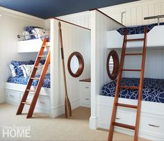 Fresh Air | New England Home Magazine  bunk room for the grand kids  what a fun place to hang.