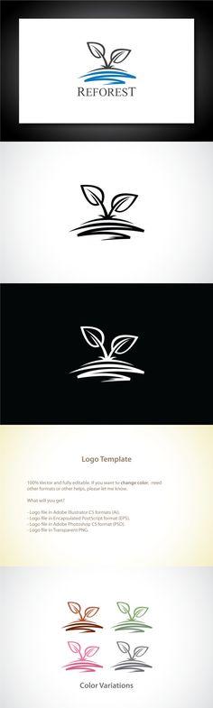 Reforest Leaf Logo Template