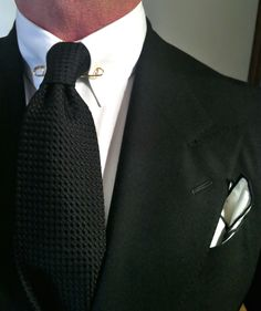 4f7745ea35ed WIWT Peak lapel Dressed for Success suit by Oger, MTM Van Laack shirt with  gold plated collar bar- Drakes tie