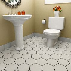 SomerTile 8.625x9.875-inch Textilis Basic White Hex Porcelain Floor and Wall Tile (Case of 25)