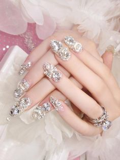 top latest glitter acrylic nail art designs ideas for long nails 1 Related Sparkle Nails, Glitter Nail Polish, Bling Nails, Swag Nails, Pink Glitter, Acrylic Nail Designs, Nail Art Designs, Nails Design, Matte Stiletto Nails