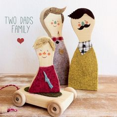 Modern two dad family - so sweet, from Little Wood