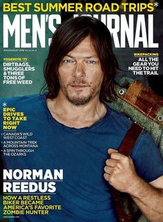 Norman Reedus on the cover of Men's Journal