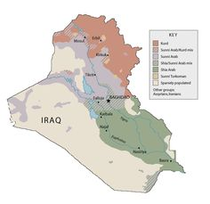 Iraq people and politics — map from PBS Frontline (http://www.pbs.org/wgbh/pages/frontline/shows/beyond/etc/map.html)