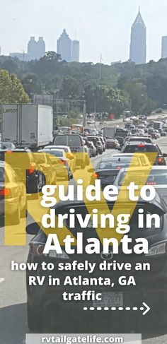 Are you scared to drive through Atlanta with your motorhome, large fifth wheel, or travel trailer? You don't need to be! With these tips and tricks, you won't have to reroute around Atlanta anymore. Take it from an Atlanta local that is always leaving or arriving through Atlanta traffic in a large Class A motorhome! Learn from a local. Travel Trailer Living, Rv Travel, Travel Info, Travel Hacks, Travel Advice, Travel Destinations, Travel Tips, Are You Scared, Rv Tips