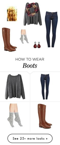 """B is for boots"" by amahl-1 on Polyvore featuring Tory Burch, Look by M, Frame Denim and UGG Australia"