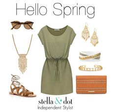 Nothing sets off a gorgeous summer tan like green and gold! Love the movement in the Alila Lace necklace! #stelladotstyle #sdjoy