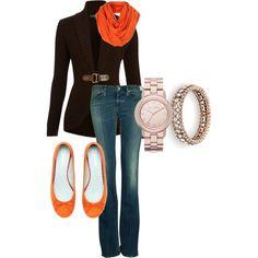Love the brown & orange!