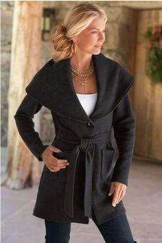 Villanova Sweater - Shawl Collar Sweater Jacket, Wool Sweater Jacket | Soft Surroundings