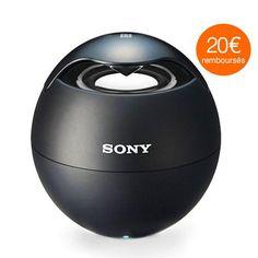 Enceinte Bluetooth NFC Sony Noire : Petite mais puissante, cette mini enceinte Sony va vous suprendre de façon agréable !