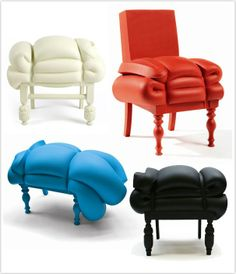 Chairs made from recycled mattresses from Dutchman Frank Willems. How on earth... #Sleepys