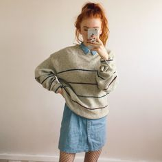 Cosy oatmeal soft knitted jumper sweater. With thick stripes - Depop  Women s Fashion f6ea4b00e
