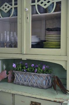 My kitchen. China Cabinet, Storage, Kitchen, Flowers, Furniture, Home Decor, Cooking, Homemade Home Decor, Larger