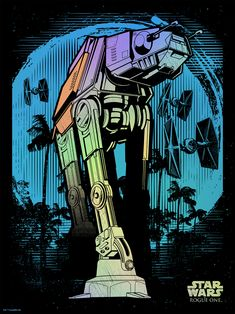 Star Wars Rogue One: AT-ACT - Created by Joshua SmithPrints available for sale at Dark Ink Art.