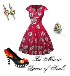 """""""la muerte the book of life"""" by miajomason on Polyvore featuring Sweet Romance"""