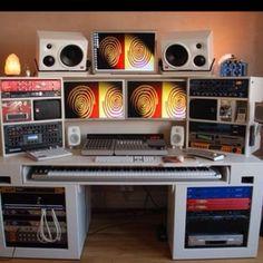 Music studio setup