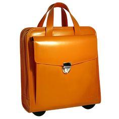 Jack Georges Rolling Brief case in Orange