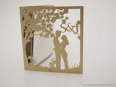 Laser cut wedding stationery - http://www.classicweddinginvitations.com.au/custom-wedding-invitation-2/ - From $8.00