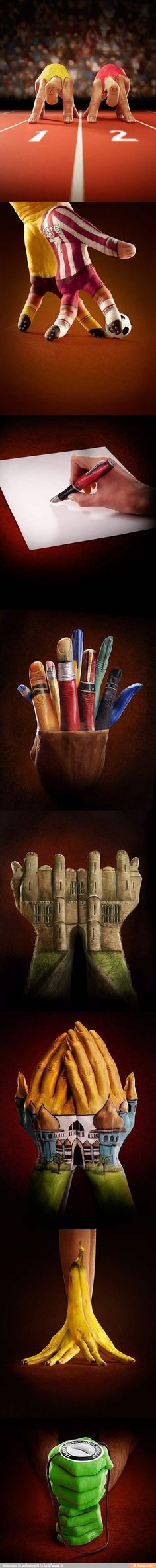 Really cool painted hands