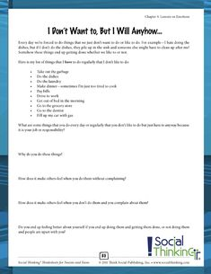 Social Thinking® Thinksheets for Tweens and Teens Social Challenges, Social Skills, Social Work, Therapy Worksheets, Speech Therapy Activities, Play Therapy Techniques, Cognitive Behavior, Listening Skills, Social Thinking