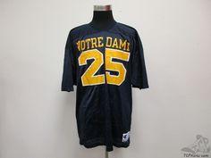 Vtg 80s 90s Champion Notre Dame Fighting Irish Football Jersey #25 sz XL ND #Champion #NotreDameFightingIrish