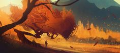 The hugely talented Bastien Grivet is a matte painter, concept artist and composer based in Montpellier, France. We have a selection of stunning sci-fi and… Concept Art World, Environment Concept Art, Environment Design, Fantasy Landscape, Landscape Art, Fantasy Art, Landscape Illustration, Illustration Art, Illustrations