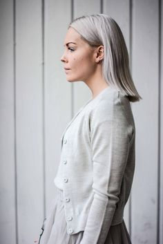 We love the light grey summerwool from Norwegian brand Cathrine Hammel.