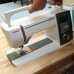 Build the sewing machine into the table