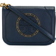 Tory Burch Logo Cross Body Bag ($397) ❤ liked on Polyvore featuring bags, handbags and shoulder bags