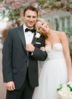 we love a Bride and Groom that are all smiles.  Photography by abbyjiu.com, Dress by http://www.jcrew.com