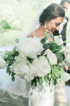 White peony bouquet dreams are made of these #cedarwoodweddings 06.24.17 :: Lauren + Tanner   Cedarwood Weddings