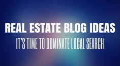 Real Estate Blog Ideas to Help You Win Locally: http://www.easyagentpro.com/blog/real-estate-blog-ideas-topics-dominate-local-search/  #realestate