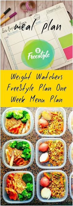 Weight Watchers FreeStyle Plan One Week Menu Plan has members. The latest update to the Weight Watchers program has created a need for this Weight. Weight Watchers Tipps, Weight Watchers Meal Plans, Weight Watchers Smart Points, Weight Watchers Diet, Weight Watcher Dinners, Weight Watchers Motivation, Weightwatchers Recipes, Ww Recipes, Healthy Recipes