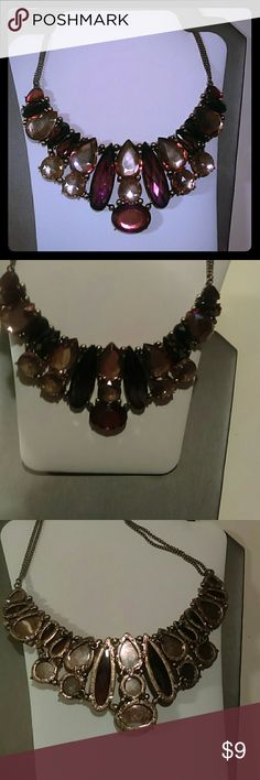 Statement bib necklace Earth tone bib necklace Jewelry Necklaces
