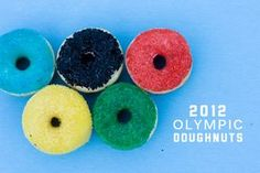 Olympic doughnut rings from Whatever Dee-Dee Wants