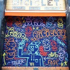 @elxupetnegre FOR @biciclet  #graffiti #logoart #streetart #bike #bikers #workshop #taller #bicicleta #barcelona #style #fixie #bmx #btt #1987 #2016 #fast #quick #control #skills by elxupetnegre
