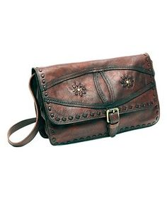 Brown Ruckus Leather Western Shoulder Bag