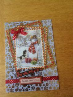Hunkydory Christmas card Tonic Cards, Hunky Dory, Heartfelt Creations, Christmas Inspiration, Handmade Cards, Stampin Up, Card Ideas, Christmas Cards, Card Making