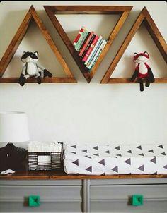 Dakota's room wall shelves