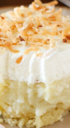 Coconut Cream Pie Bars ~ These are so AMAZING... Make them now!