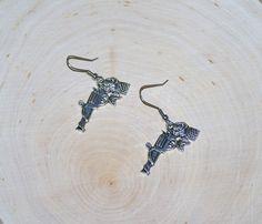 Gun Earrings Flower Gun Earrings  1 Pair by AprilsHandmadeJewels