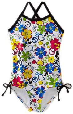 BESTSELLER! Kanu Surf Girls 4-6x Love Me One Piece Swimwear $22.50